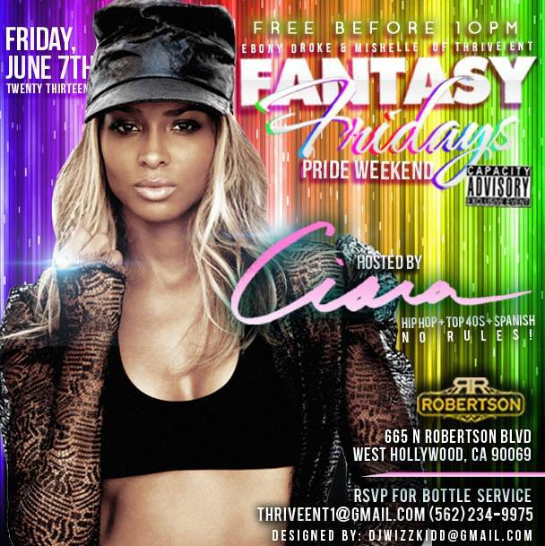 Fantasy Fridays with Guest CIARA I'm in the mix 12-2AM Patio droppin TRAP, ELECTRO, DUBSTEP, BMORE CLUB, HIPHOP Remixes + More. https://www.facebook.com/events/175303882630903/